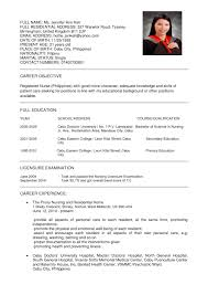 exles of resumes for nurses sle resumes nurses professional resume cover letter sle