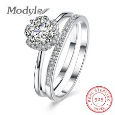 silver bridal rings images Buy modyle 100 pure 925 sterling silver bridal jpg
