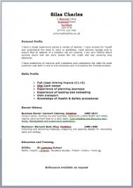 Delivery Driver Resume Example by Free Targeted Cv Template Zone Jobfox Uk