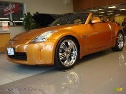 orange nissan 350z 2004 nissan 350z touring roadster in le mans sunset metallic