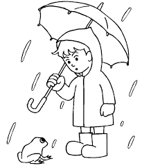 Drawn Rain Coloring Page Pencil And In Color Drawn Rain Coloring Rainy Day Coloring Pages