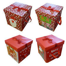 wrapped christmas boxes gift boxes ebay