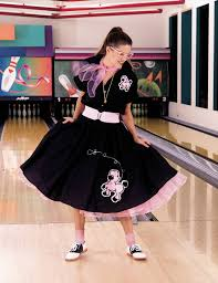 poodle skirt halloween costume complete poodle skirt black u0026 pink costume