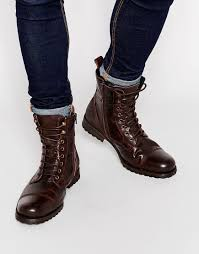 brown motorcycle boots for men aldo graegleah leather derby boots in brown for men lyst