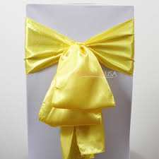 yellow chair sashes wedding chair covers chair covers table linens wholesale at