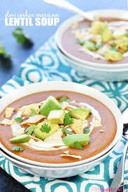 slow cooker mexican lentil soup
