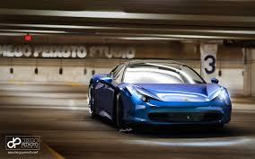 Ferrari 458 Blue - ferrari 458 italia with a stunning blue color and hre wheels