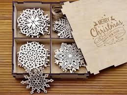 wooden snowflake ornaments wood christmas decorations