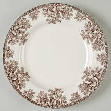 manor by spode brown transferware acorn oak leaf border this