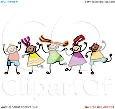 royalty free rf clipart illustration of a childs sketch of boys