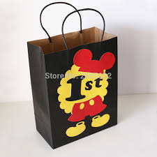 mickey mouse gift bags 1 st mickey mouse favor bags mickey mouse decorations candy