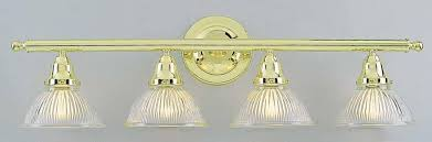 Brass Bathroom Lights Magnificent Polished Brass Bathroom Lights 4 Light Polished Brass