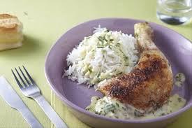 cuisiner le riz basmati recette de cuisse de poulet à la crème d estragon riz basmati