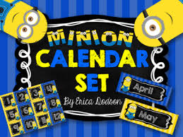 minion desk calendar 2017 minion calendar set chalkboard stripes