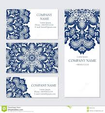 set of business or invitation cards templates stock vector