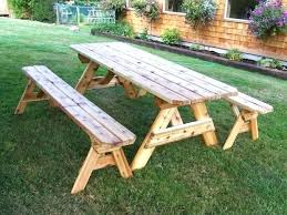 picnic table plans detached benches octagon picnic table attractive wooden octagon picnic table