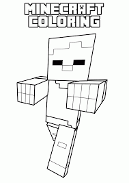 minecraft coloring page coloring home