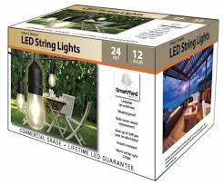 smartyard led string lights 24 ft 12 led bulb string light black cable electric outdoor