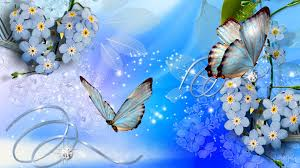 flowers and butterflies wallpaper 1367016