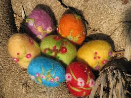 felted easter eggs needle felted easter egg by made4ubymagic on etsy 11 00