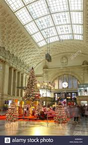 leipzig germany christmas decorations in the east hall of the