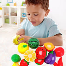 amazon com susenstone 1 set cutting fruit vegetable pretend play