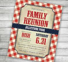 free family reunion invitations templates download outstanding
