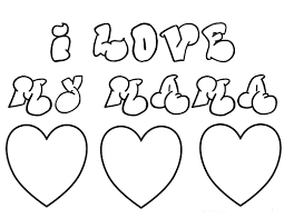 i love you mom coloring pages womanmate com