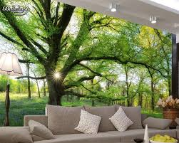 3d Wallpaper For Bedroom Beibehang Natural Sunshine Forest Tree Beautiful Photo 3d