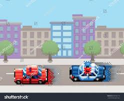 Police Car Chase Pixel Art Video Stock Vector 289785176 Shutterstock