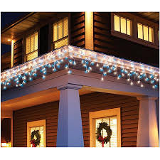 time 300 count icicle light set blue white