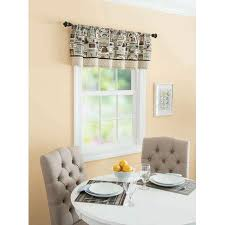 better homes and gardens fresh brewed kitchen valance blue