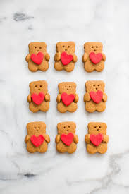 valentines bears 12 s day desserts heart cookies bears and