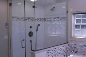 installing custom shower glass enclosure a concord carpenter