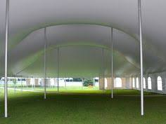 chicago tent rental 20x20 festival tent with water barrels from house of rental party