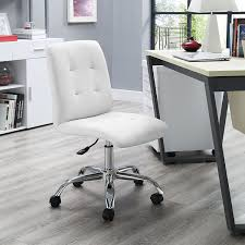 Office Chairs Amazon Com Modway Prim Mid Back Office Chair White Kitchen U0026 Dining