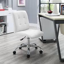 amazon com modway prim mid back office chair white kitchen u0026 dining