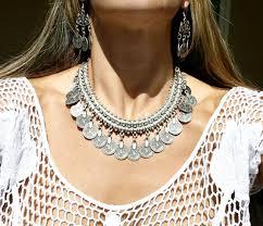 boho bib necklace images Bohemian gypsy love affair necklace antalya silver coin choker bib jpg