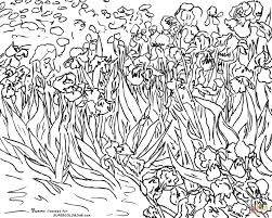 sunflowers by vincent van gogh coloring page free printable