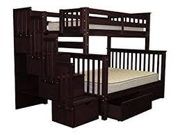 Steps For Bunk Bed Bedz King Stairway Bunk Beds With 4