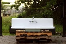 vintage cast iron sink drainboard vintage kitchen sink with drainboard sink ideas