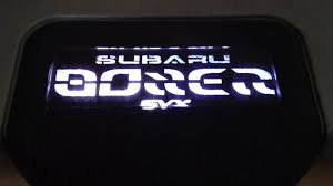 subaru svx jdm subaru svx custom boxerglyphics engine cover youtube