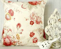 Shabby Chic Pillow Covers by Roses Pillow Cover Etsy