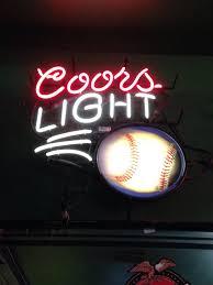 coors light bar sign neon beer sign coors light baseball neon beer signs