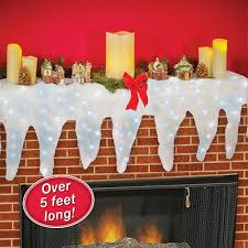 lighted icicle mantel runner gifts lights