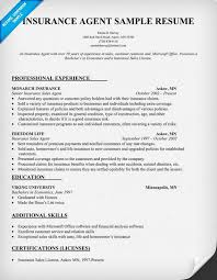 Resume Samples For Experienced Software Professionals by Insurance Agent Resume Sample Professional Experience