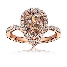 morganite pear engagement ring morganite pear shape halo ring in gold