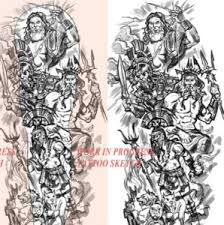 zeus poseidon tattoos greek mythology tattoos design for men