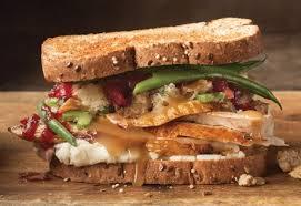 thanksgiving leftover turkey sandwiches