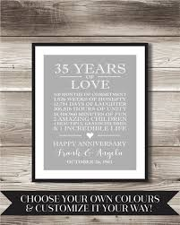 35 year anniversary gift 35th wedding anniversary gift for parents